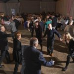 Guests of Christopher Moran enjoy a dance at the Cabrach Ceilidh 2013