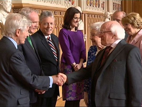 Christopher Moran with Michael D. Higgins