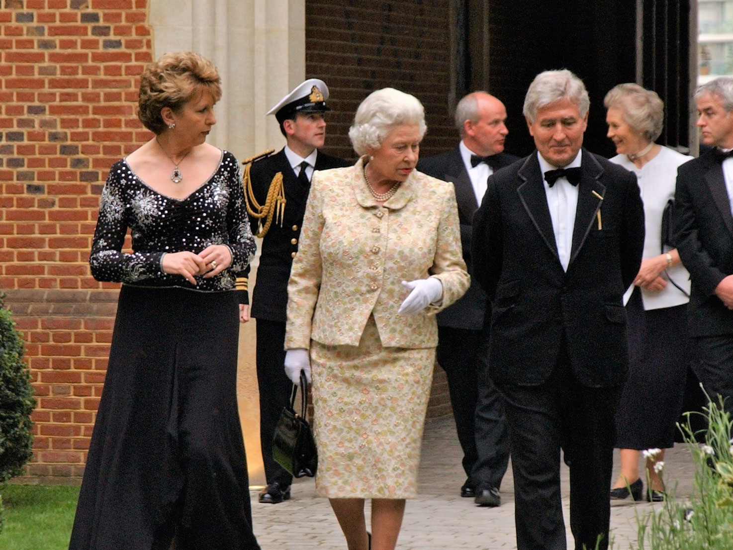 Christopher Moran with the Queen and Irish President Mary McAleese in 2005