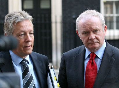 Press Association Picture of Peter Robinson and Martin McGuinness.