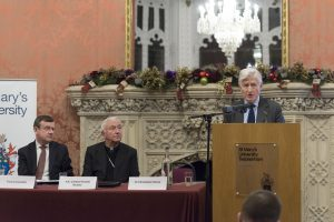 Dr. Christopher Moran Chairman Co-operation Ireland St Mary's Keynote Speech on Faith & Conflict