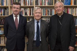 L - R: Francis Campbell, Dr Christopher Moran and Cardinal Vincent Nichols