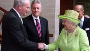 Her Majesty The Queen and Deputy First Minister Martin McGuinness MP MLA