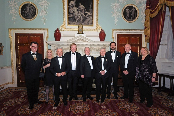 Dr. Christopher Moran Chairman of Co-operation Ireland with special guests at 2018 Co-operation Ireland City Dinner (Mansion House, London)