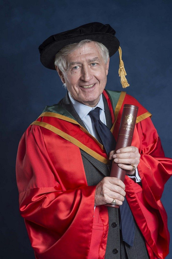 Dr. Moran receives honorary Doctorate of Laws from the University of Ulster for his commitment to society