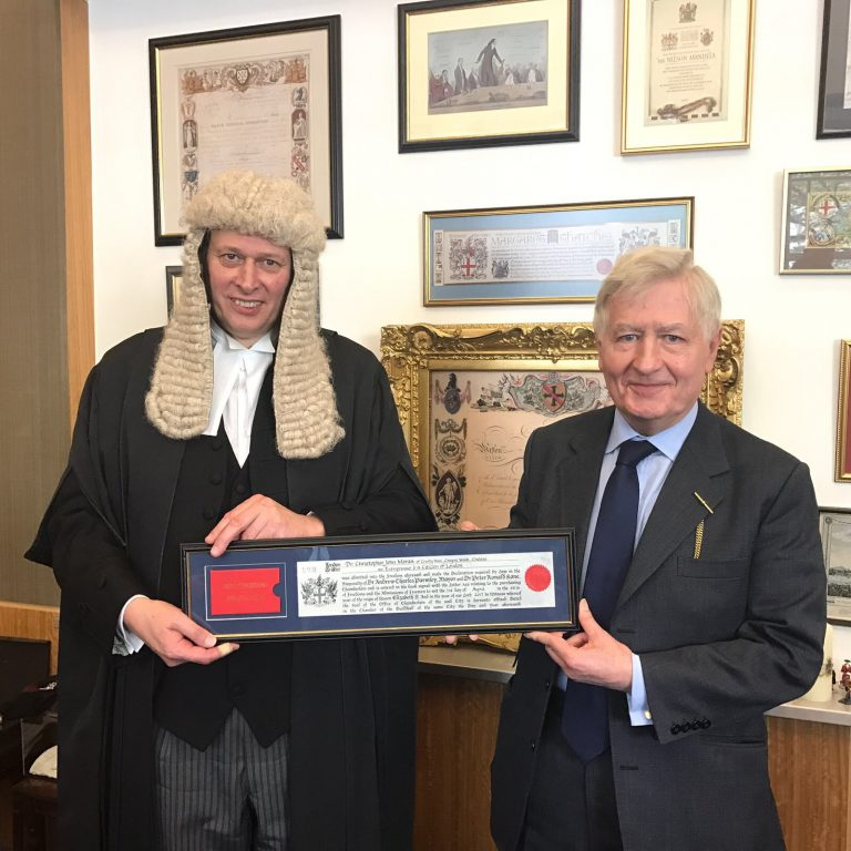 Mr Paul Double LVO & Dr Christopher Moran Freeman City of London Guildhall