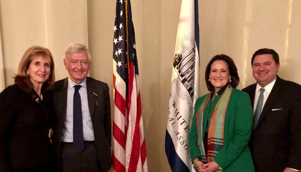 Dr. Christopher Moran, with Co-operation Ireland Board Member Paula Dobriansky, Under Secretary of State for Democracy and Global Affairs, is honoured by the White House Historical Association (Washington, D.C.)
