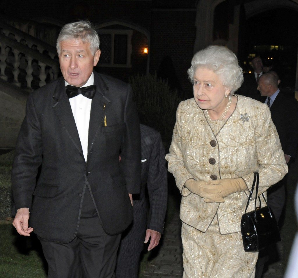 Dr. Christopher Moran Her Majesty Queen Elizabeth II at Crosby Hall