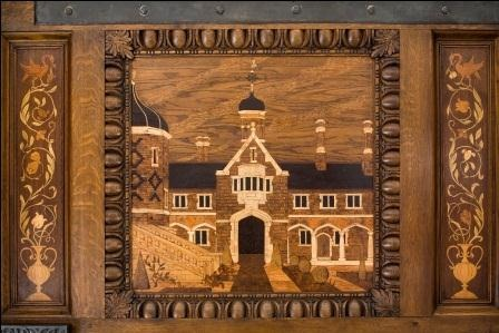 Christopher Moran - Wood inlays in the marquetry 'nonsuch' doors of Crosby Hall