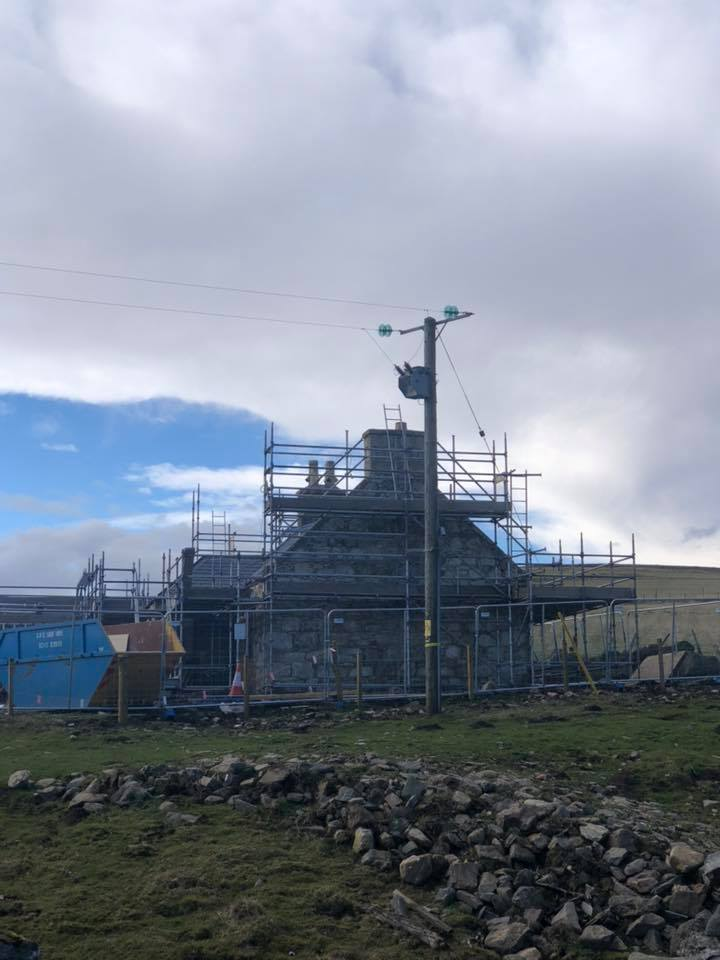 Regeneration of the Cabrach & Glenfiddich Estates, visitors centre and houses under construction, in association with EDF
