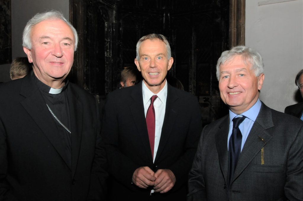 Christopher Moran Archbishop of Westminster Tony Blair at Crosby Hall