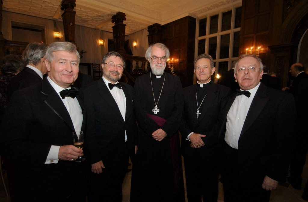 Christopher Moran Archbishop of Canterbury Rowan Williams at Crosby Hall